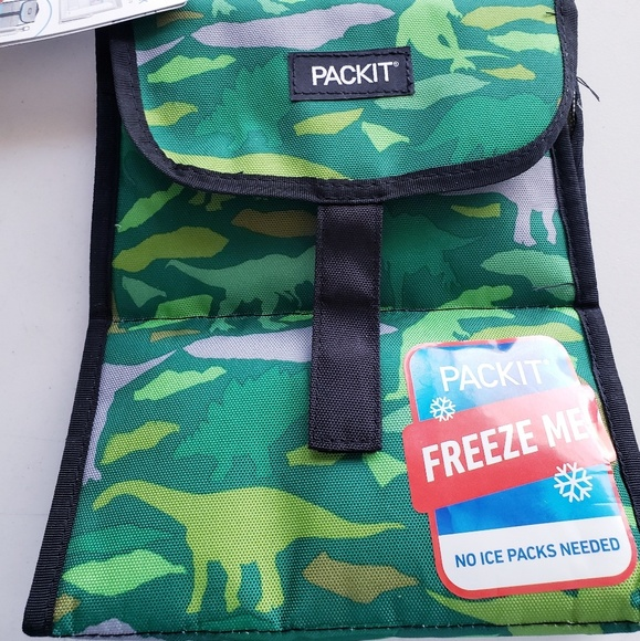 pack it Other - Packit Freezable Lunch Sack Bag Green Dinosaurs